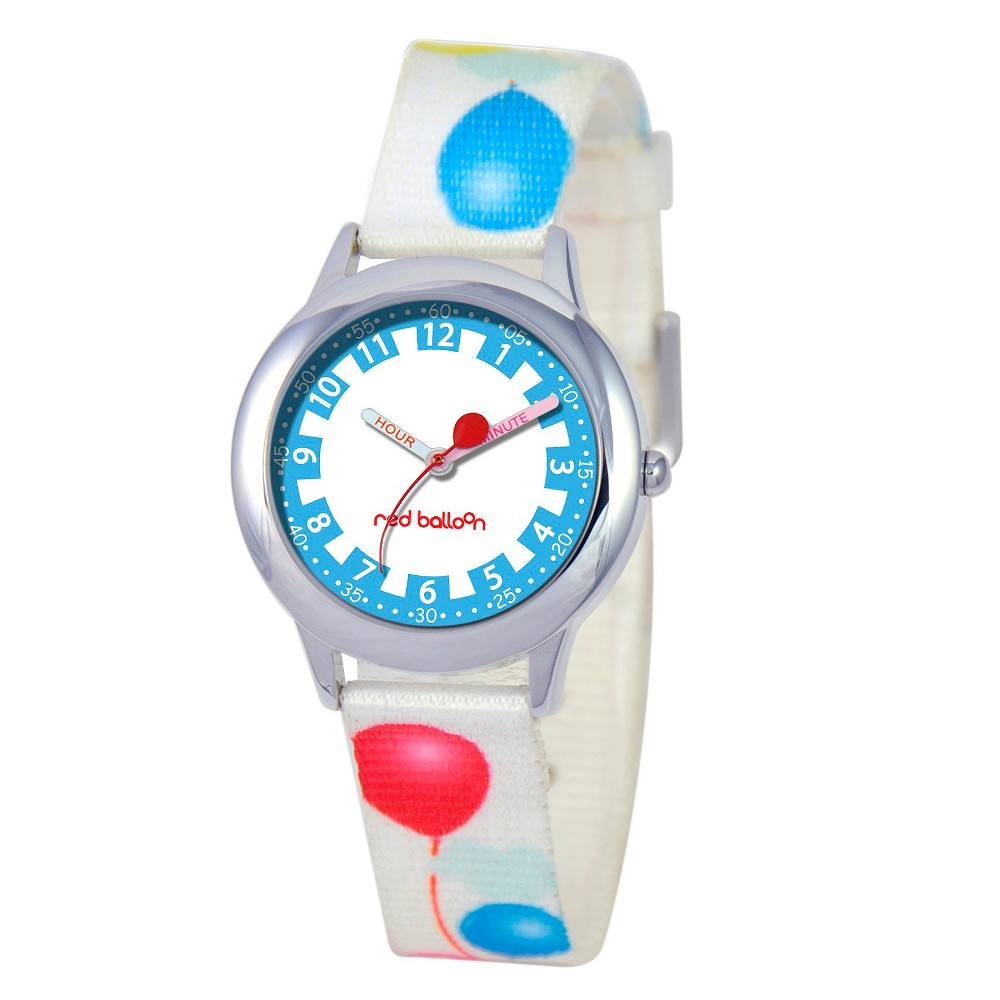 Boys' Red Balloon Stainless Steel Time Teacher Watch - White