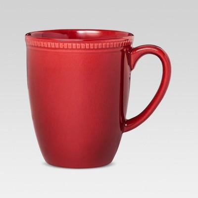 Camden 4pcs Round Mugs Red - Threshold™
