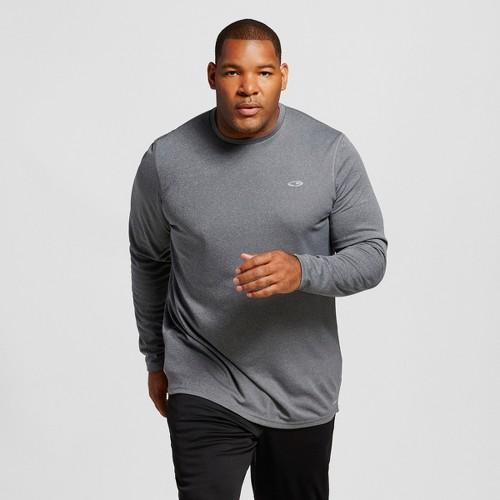 Big & Tall C9 Champion Men's Big and Tall Long Sleeve Tech T-Shirt - Charcoal Heather Xxxl Tall