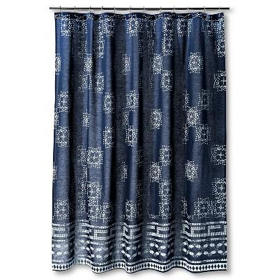Batik Shower Curtain Indigo - Nate Berkus™