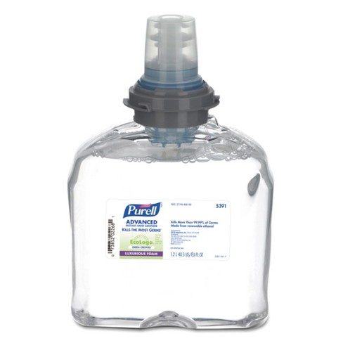 PURELL TFX Green Certified Instant Hand Sanitizer Foam Refill 1200ml Clear - image 1 of 2