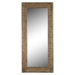 Rectangle Metal Framed Decorative Wall Mirror Multicolored - 3R Studios