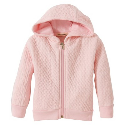 Burt's Bees Baby™ Girls' Organic Hooded Quilted Jacket - Blossom 3-6M