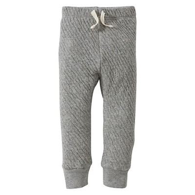 Burt's Bees Baby™ Boys' Organic Quilted Pant - Heather Grey 3-6M