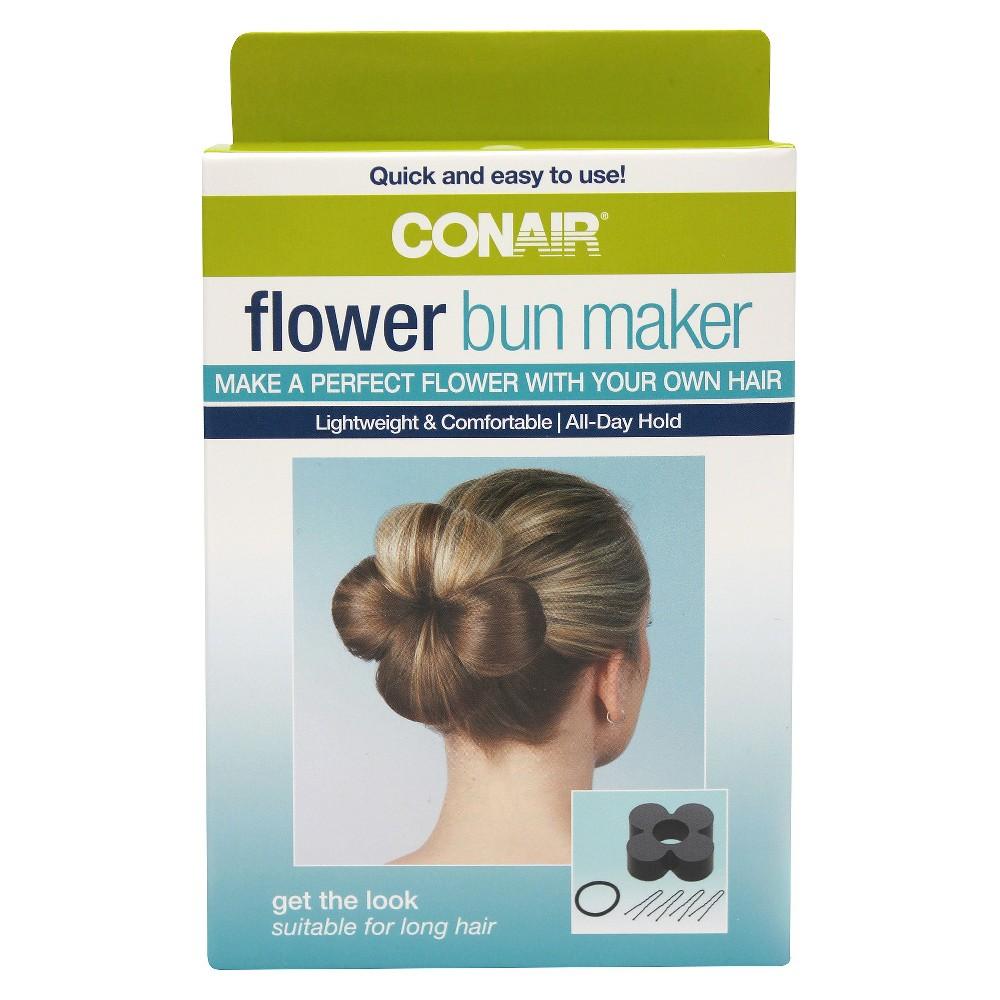 Conair Flower Bun Maker kit - 6 ct, Adult Unisex, Black