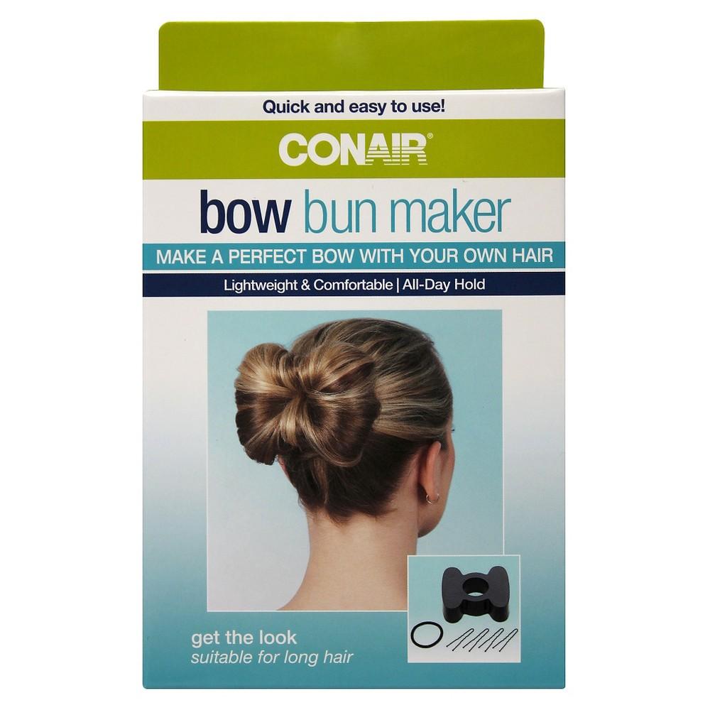 Conair Bow Bun Maker Kit - 6 Count, Adult Unisex, Black