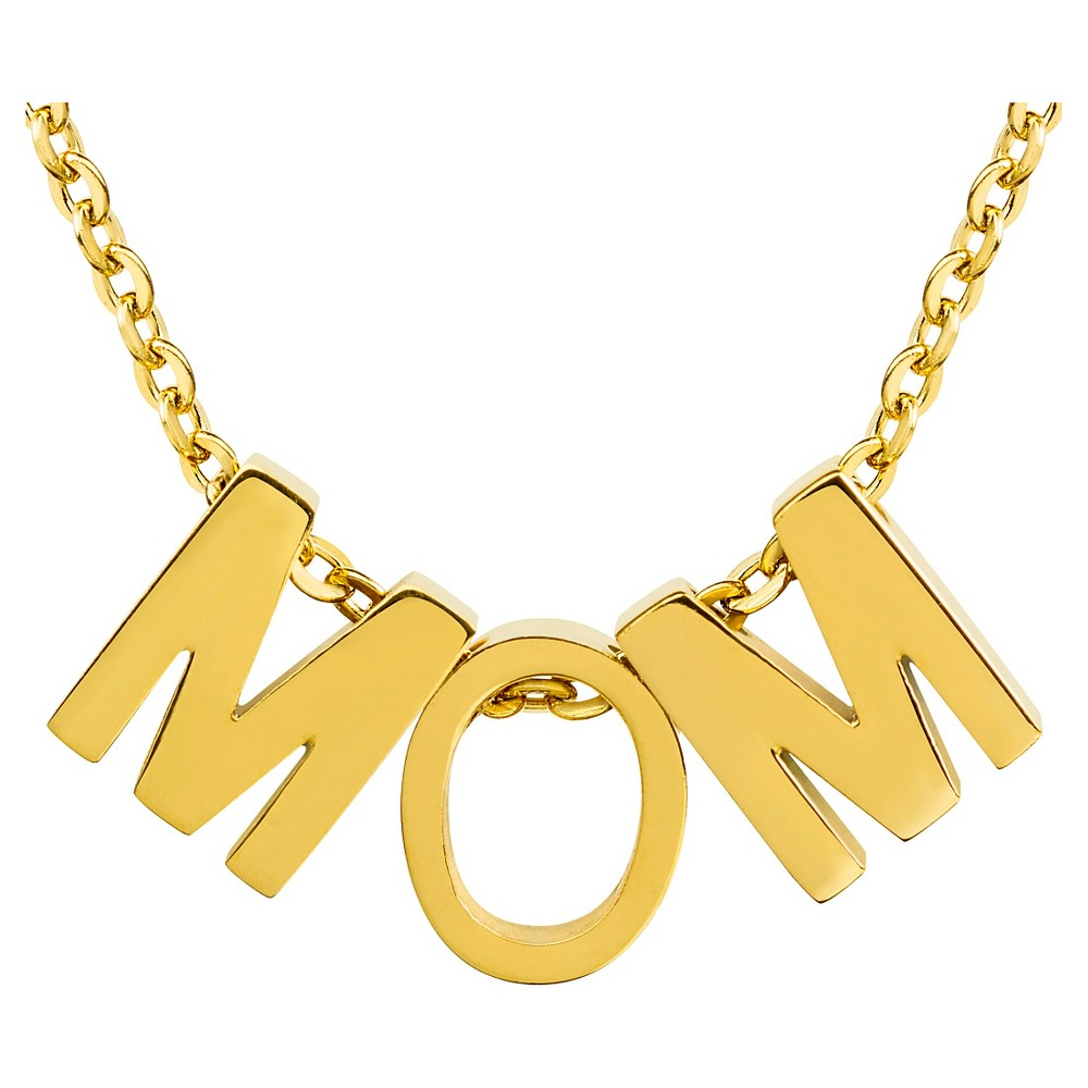 Womens Elya 18K Gold Plated mom Pendant Necklace