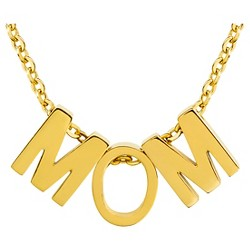Women's ELYA 18K Gold Plated 'MOM' Pendant Necklace