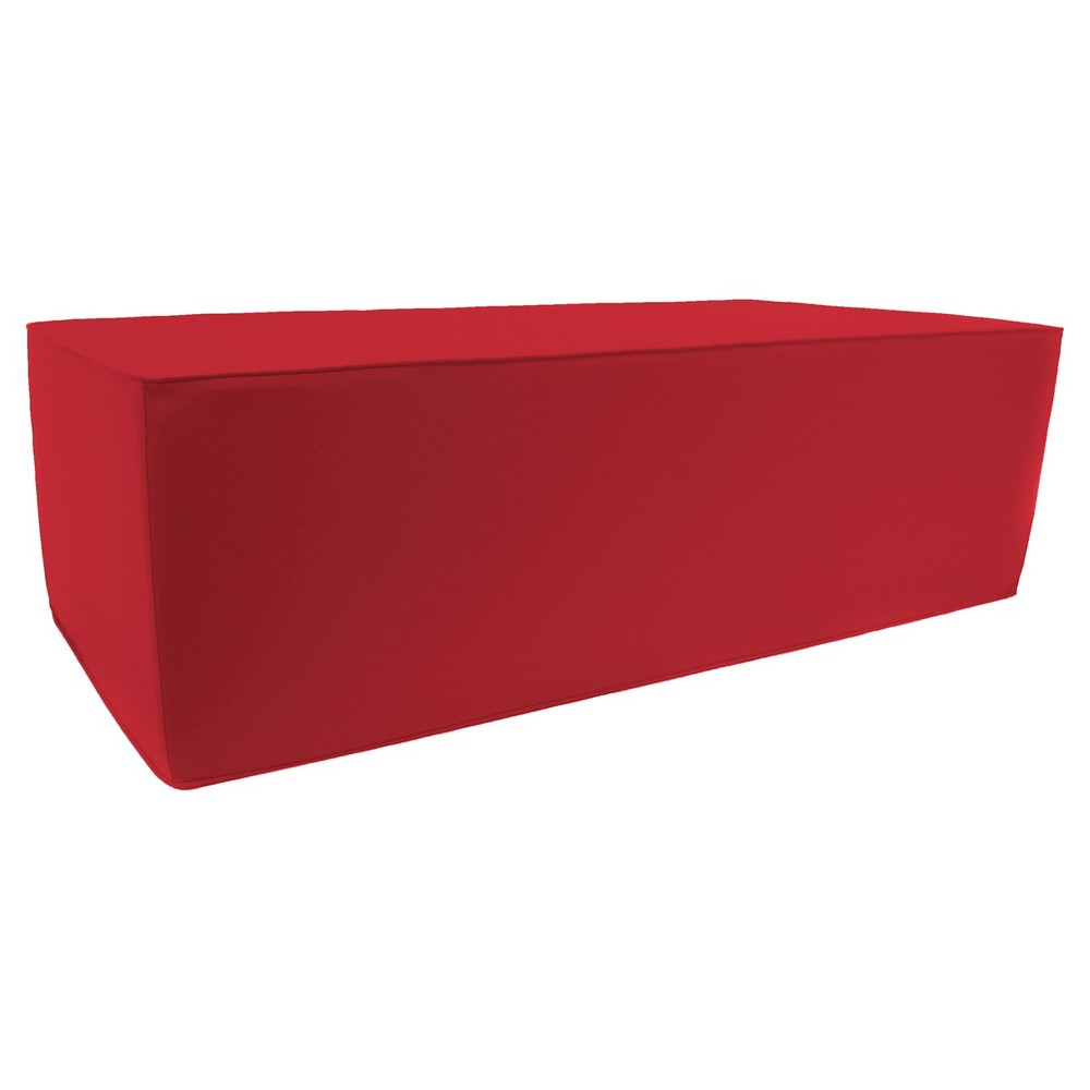 Jordan Patio Ottoman - Red Find Patio Seating at Target.com! After a stressful and busy day, a great way to relax is to come home and put your feet up on this Jordan Patio Ottoman - Red. This comfortable piece of furniture is a soft and attractive foot stool that also works well as a place to set your phone, tablet or a refreshing drink. The durable fabric cover is resistant to weather, staining and fading. Pattern: Solid.