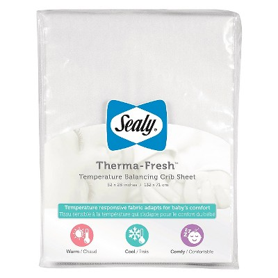 Sealy Therma-Fresh Cooling Crib Sheet - White