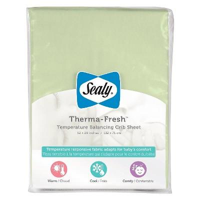 Sealy Therma-Fresh Cooling Crib Sheet - Green