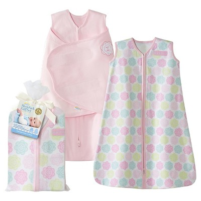 HALO® Sleepsack® 100% Cotton Two-Piece Gift Set - Pink Flowers