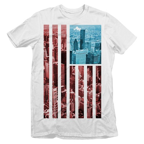 Men's NYC American Flag T-Shirt White - Rebels & Nomads - image 1 of 1