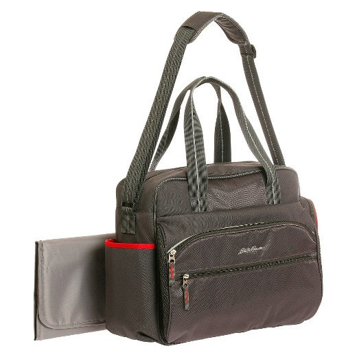 eddie bauer first adventure ashland sport duffle diaper bag gray red target. Black Bedroom Furniture Sets. Home Design Ideas