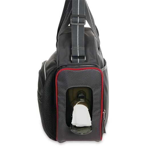 eddie bauer first adventure ashland sport duffle diaper bag gray red target. Black Bedroom Furniture Sets. Home Design Ideas