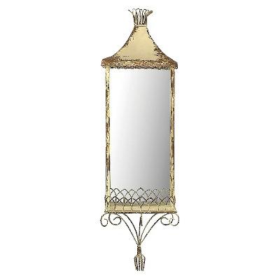 Metal Mirror with Shelf - Cream