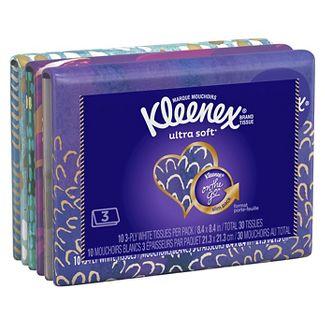 Kleenex On the Go Facial Tissue - 3pk / 10ct