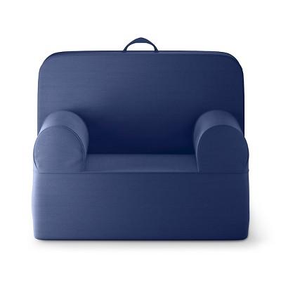 Medium Luna Lounger Chair - Blue Overalls - Pillowfort™