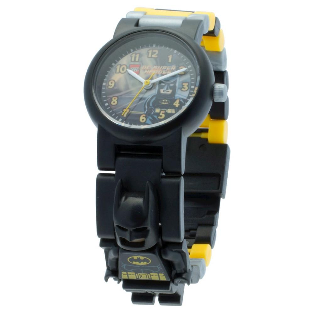 Lego Batman Movie Batman Watch with minifigure Link - Black&Yellow, Kids Unisex, Yellow/White/Black