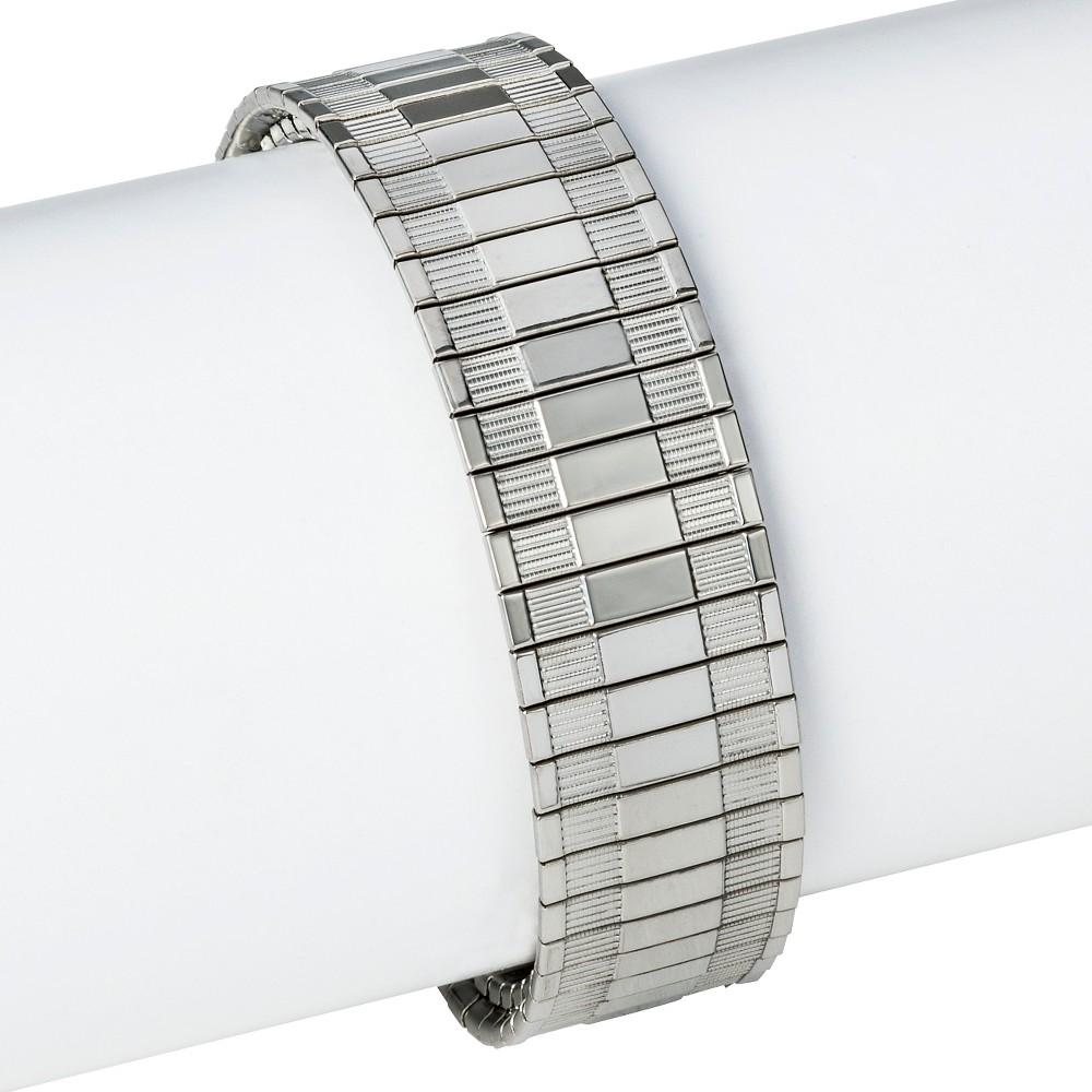 Speidel Twist-O-Flex Stainless Steel Replacement Watchband 18-22MM, Womens, Silver
