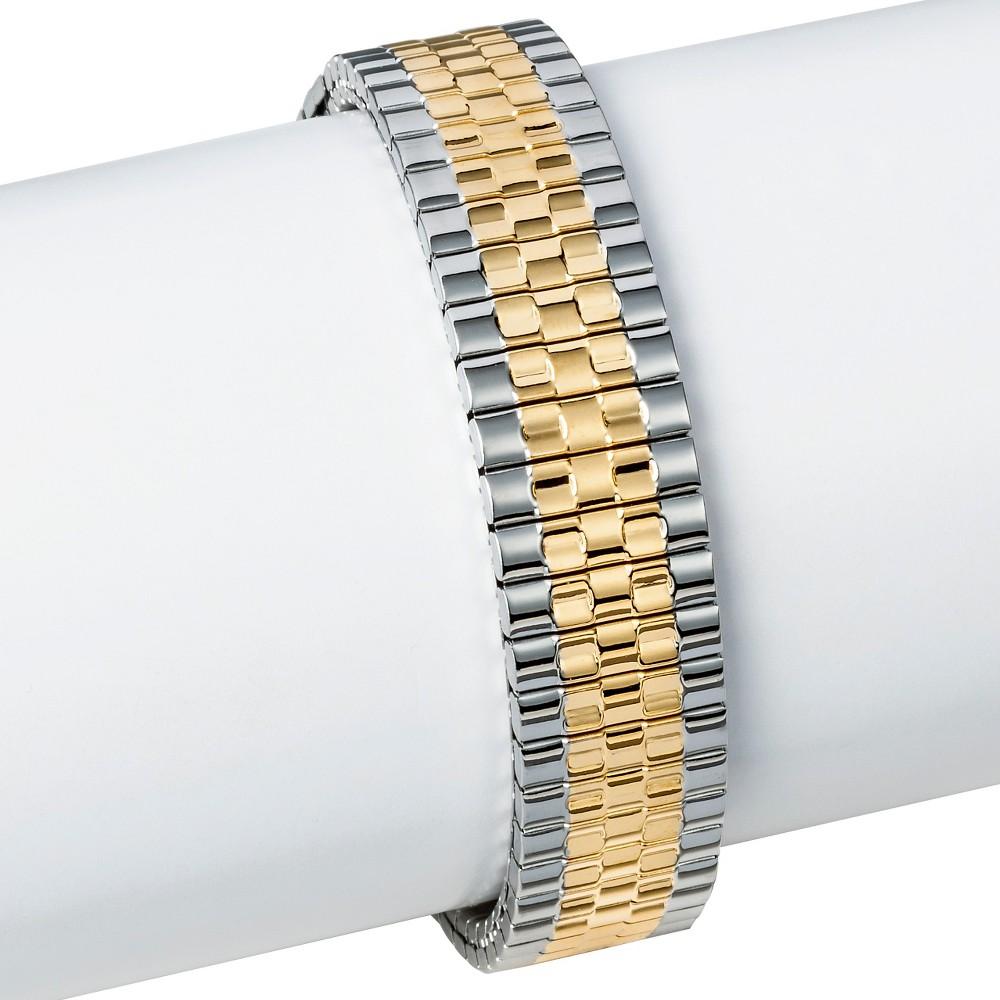 Speidel Twist-O-Flex Dual Tone Replacement Watchband 18-23MM, Adult Unisex, Multi-Colored
