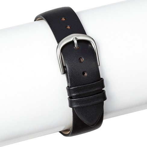 Speidel® Leather Replacement Watchband 18MM - Black - image 1 of 1