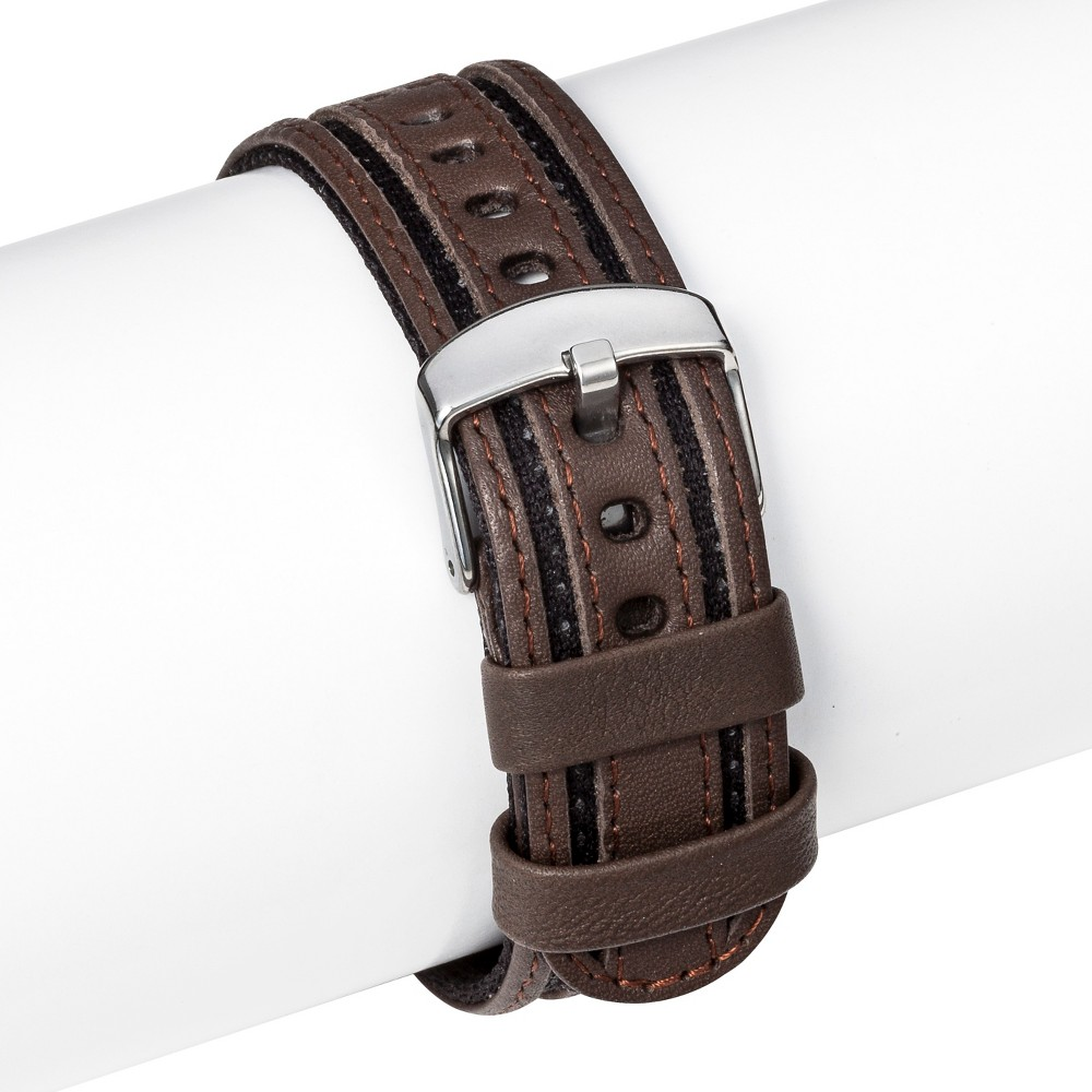 Speidel Leather Replacement Watchband 18MM - Brown, Adult Unisex