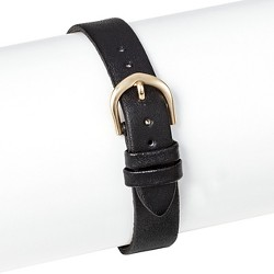 Speidel® Leather Replacement Watchband 14MM - BLACK