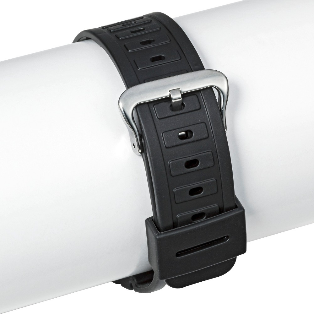 Speidel Rubber Replacement Watch Strap 18MM - Black, Adult Unisex