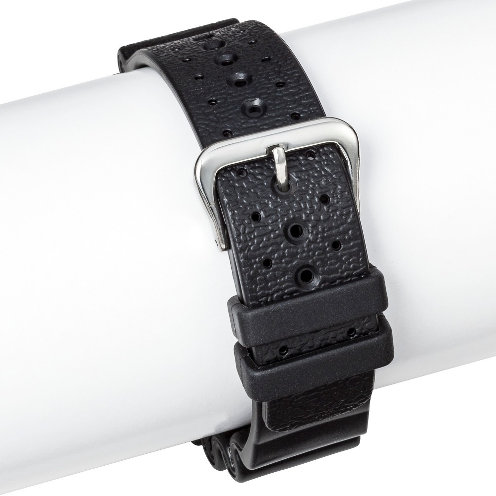 Speidel Rubber Replacement Watch Strap 24MM - Black, Adult Unisex