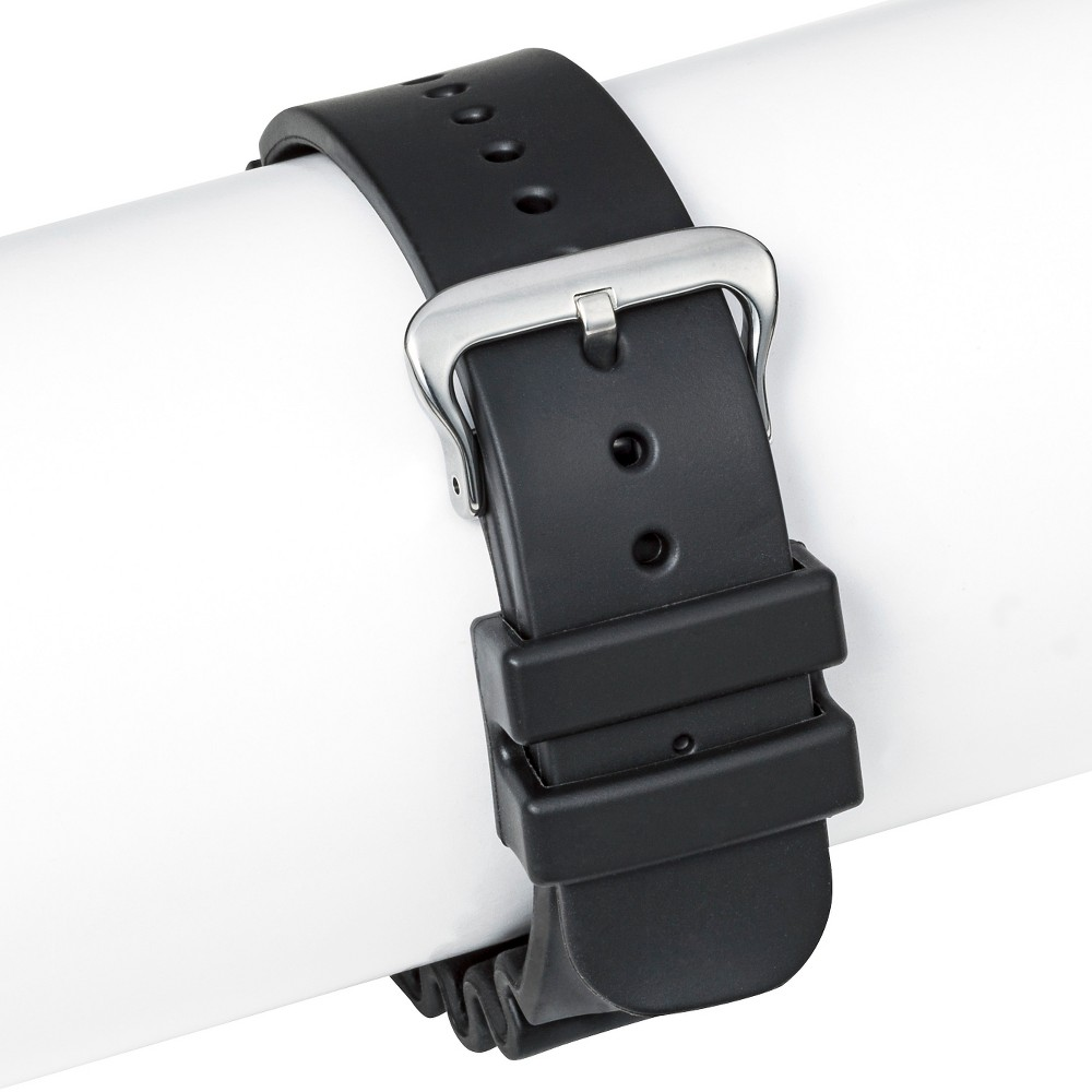Speidel Rubber Replacement Watch Strap 22MM - Black, Adult Unisex