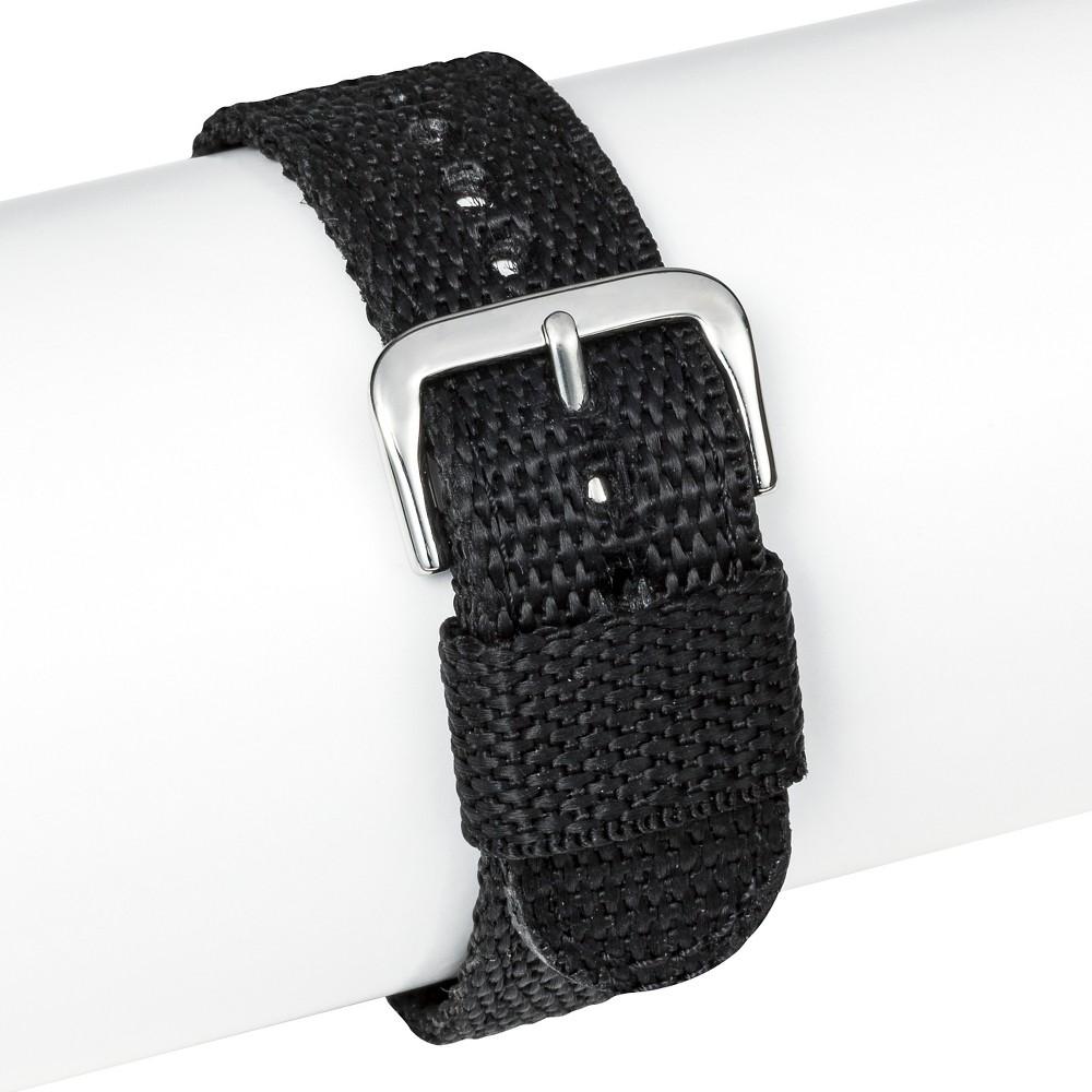 Speidel Nylon Replacement Watch Strap 20MM - Black, Adult Unisex