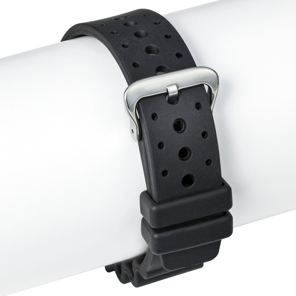 Speidel Rubber Replacement Watch Strap 20MM - Black, Adult Unisex