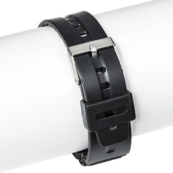 Speidel® Rubber Replacement Watch Strap 19MM - Black