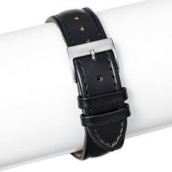 Speidel® Padded Leather Replacement Watchband 20MM - Black