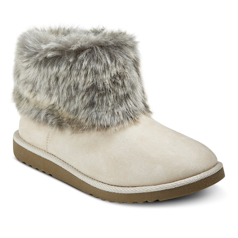 Womens Melby Shearling Style Boots - Mossimo Supply Co. Ivory 7