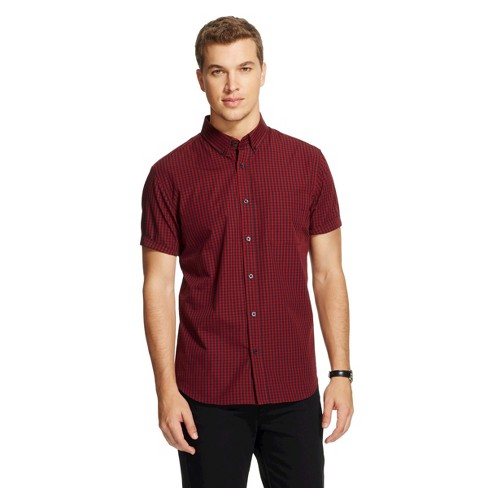 Men's Slim Fit Button-Down Shirt True Red - Mossimo™ - image 1 of 2