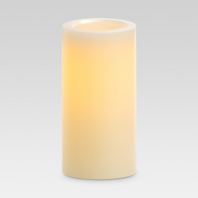LED Pillar Candle White 4 x8  - Threshold™