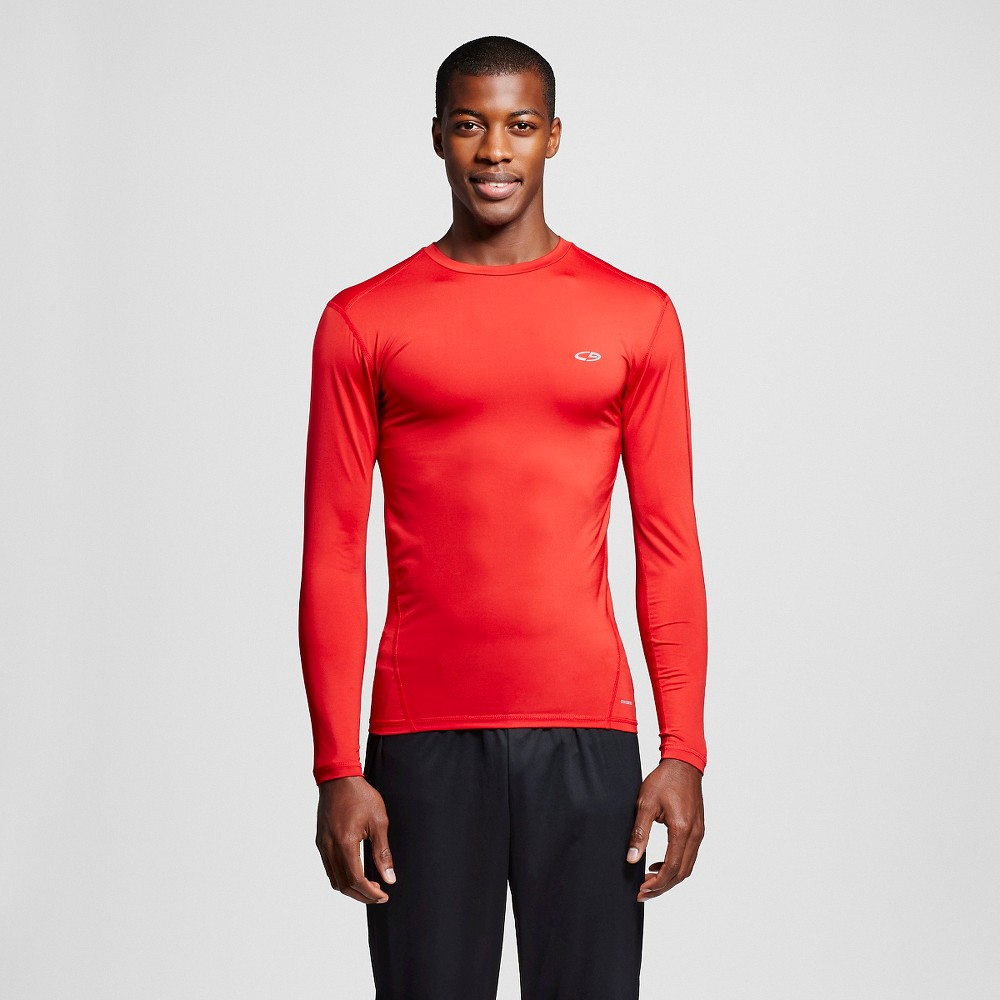 Mens Power Core Compression Long Sleeve Shirt - C9 Champion Ripe red Xxl