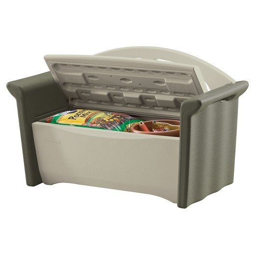 Patio Storage Bench Rubbermaid Target