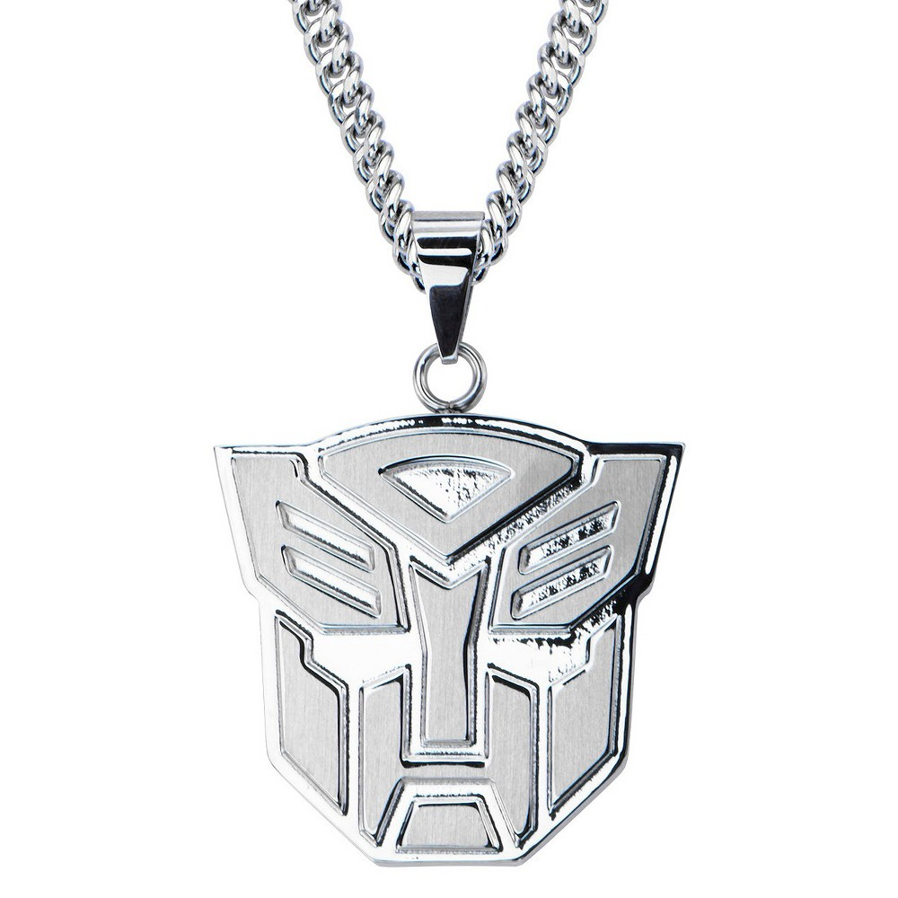 Mens Hasbro Transformers Autobot Stainless Steel Pendant with Chain (24)