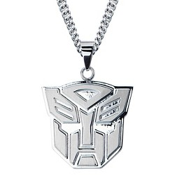 "Men's Hasbro® Transformers Autobot Stainless Steel Pendant with Chain (24"")"
