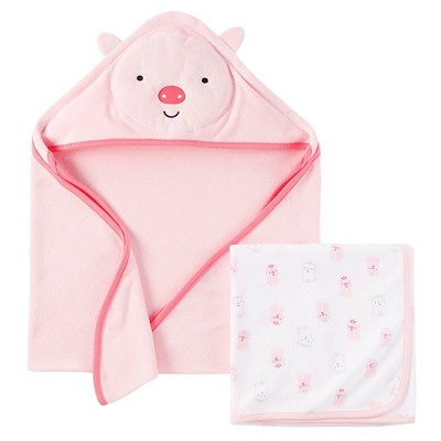 Just One You™ Made by Carter's® Baby Girls' Bear Hooded Bath Towel - Pink