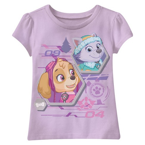Toddler Girls' PAW Patrol Skye and Everest T-Shirt - Lavender - image 1 of 1