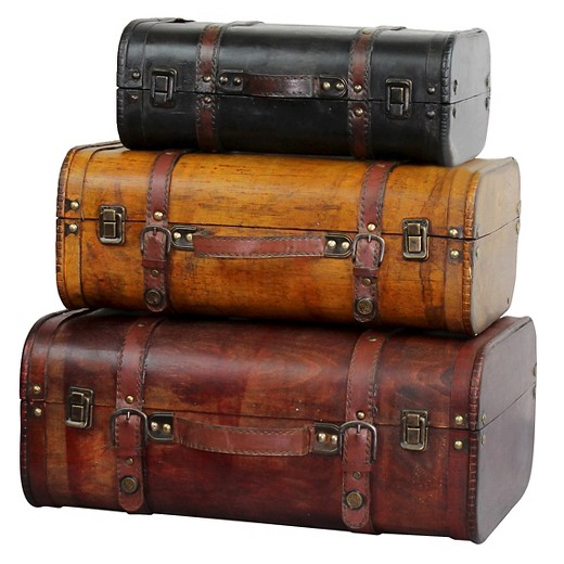 Three Colored Vintage Style Luggage Suitcase (Set of 3) - Quickway ...