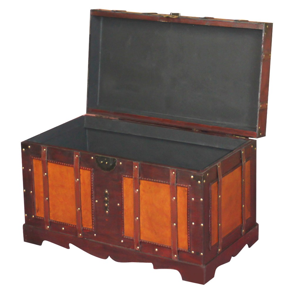 Antique Style Steamer Trunk - Quickway Imports,  Purple