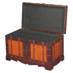 Antique Style Steamer Trunk - Quickway Imports