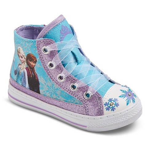 Disney® Toddler Girls' Frozen Light up High Top Sneakers - Purple - image 1 of 3