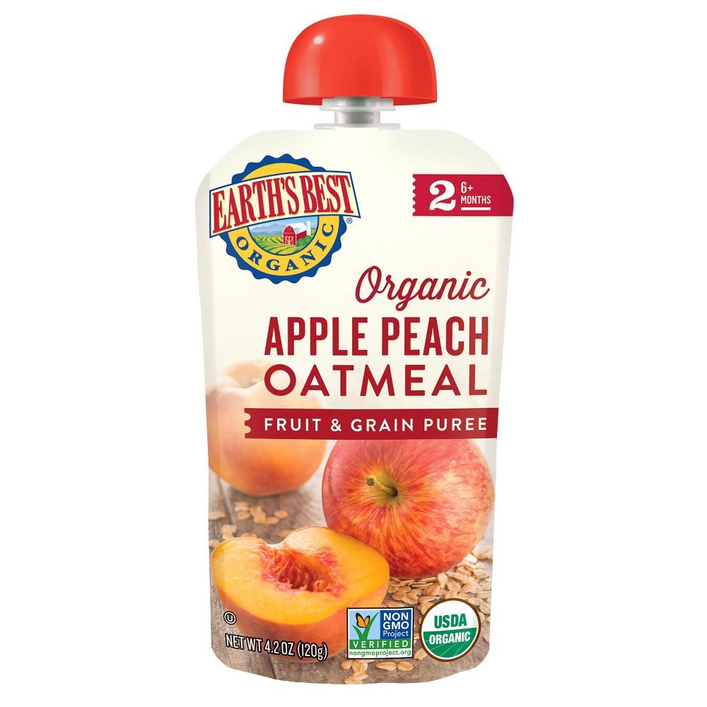 Earth's Best Organic Apple Peach Oatmeal - 4.2oz (6 pk)