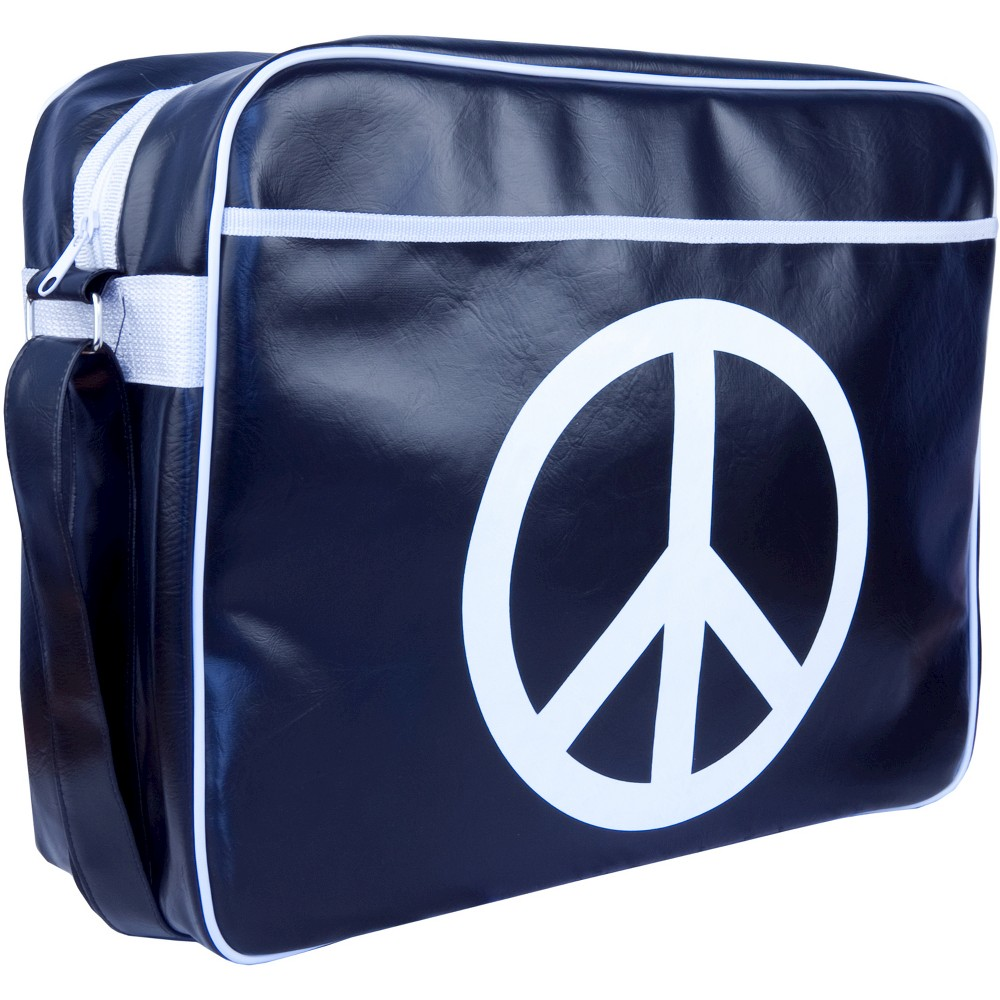 Urban Factory City Peace & Love Vintage Collection Bag for 16 Laptops - Blue/White(VQ9968) Find Electronics Carriers and Protectors at Target.com! • Eye-catching design • Interior and exterior pockets • Full-width zipper for easy access • Adjustable shoulder strap for a custom fit For a stylish look and great protection for your laptop, try this Urban Factory City Peace and Love Vintage Collection Bag for 13.3 Laptops - Blue/White(VQ9968). Generous padding keeps your laptop safe from bumps and scratches. Color: Blue/ White.